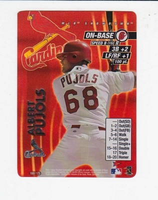 2001 MLB Showdown Pennant Run #168 Albert Pujols FOIL RC