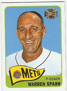 2001 Topps Archives #134 Warren Spahn 65