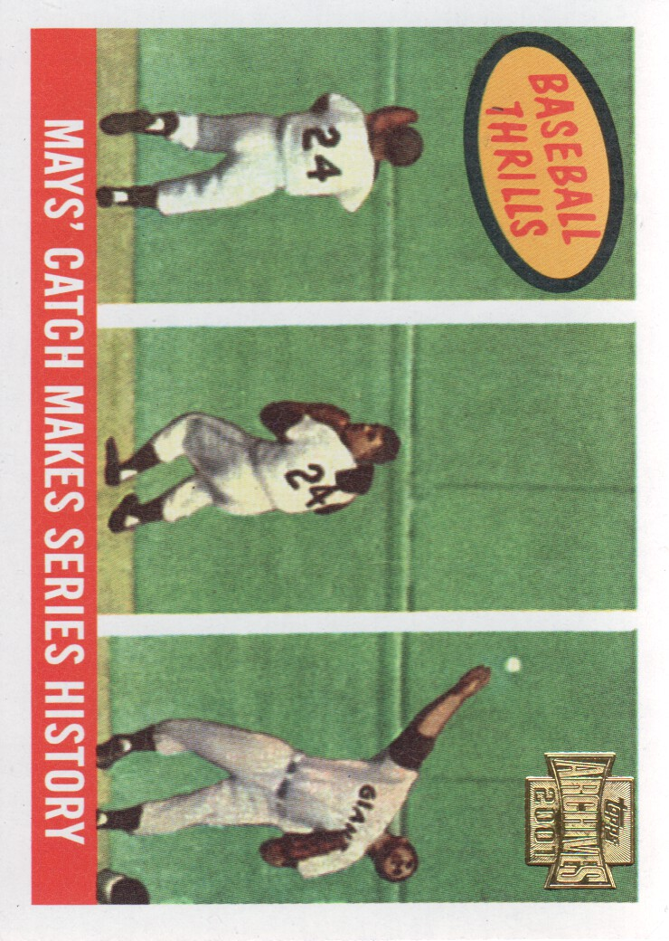 2001 Topps Archives #215 Willie Mays 59 Thrill