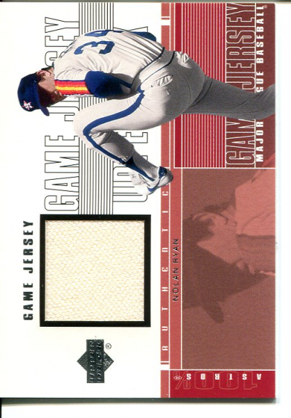 2001 Upper Deck Game Jersey #CNRA Nolan Ryan Astros
