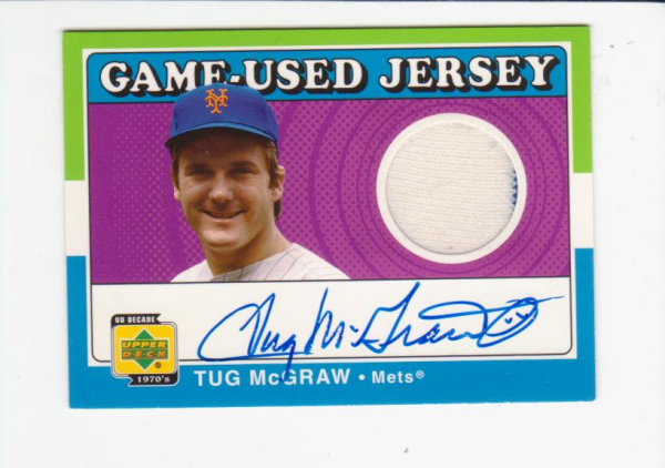 2001 Upper Deck Decade 1970's Game Jersey Autograph #SJTM Tug McGraw