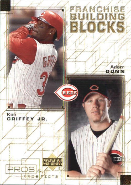 2001 Upper Deck Pros and Prospects Franchise Building Blocks #F29 K.Griffey Jr./A.Dunn