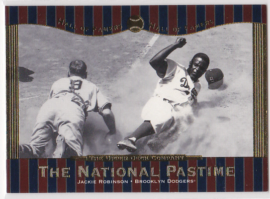 2001 Upper Deck Hall of Famers #62 Jackie Robinson NP