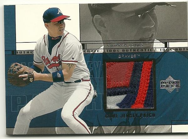 2001 Upper Deck Game Jersey Patch #PCJ Chipper Jones S2