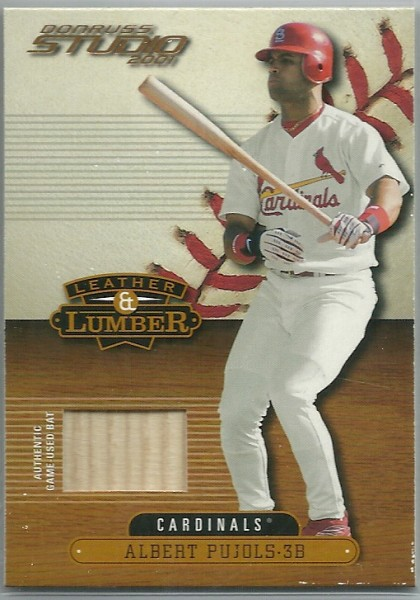 2001 Studio Leather and Lumber #LL23 Albert Pujols
