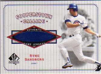 2001 SP Authentic Cooperstown Calling Game Jersey #CCRS Ryne Sandberg