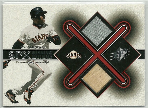 2001 SPx Winning Materials Bat-Jersey #BB2 Barry Bonds