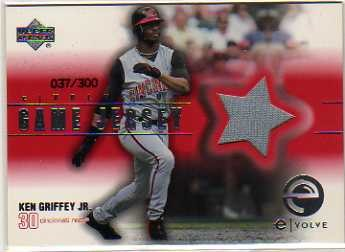 2001 Upper Deck eVolve Game Jersey #EJKG Ken Griffey Jr. S2