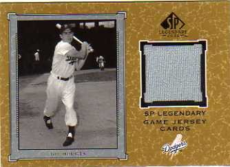 2001 SP Legendary Cuts Game Jersey #JGH Gil Hodges Jsy
