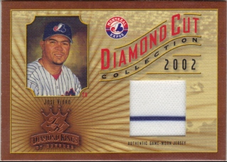 2002 Diamond Kings Diamond Cut Collection #DC44 Jose Vidro Jsy/500