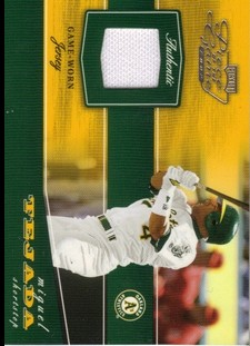 2002 Playoff Piece of the Game Materials #58A Miguel Tejada Jsy