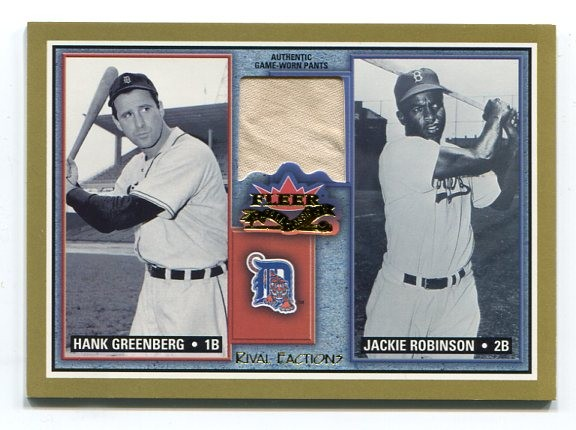 2002 Fleer Fall Classics Rival Factions Game Used #45 J.Robinson Pants-G'berg/75