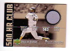 2002 UD Piece of History 500 Home Run Club Jersey #RJ Reggie Jackson