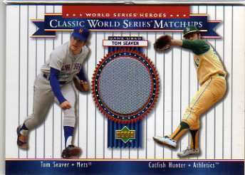 2002 Upper Deck World Series Heroes Classic Match-Ups Memorabilia #MU73 T.Seaver Pants/Hunter
