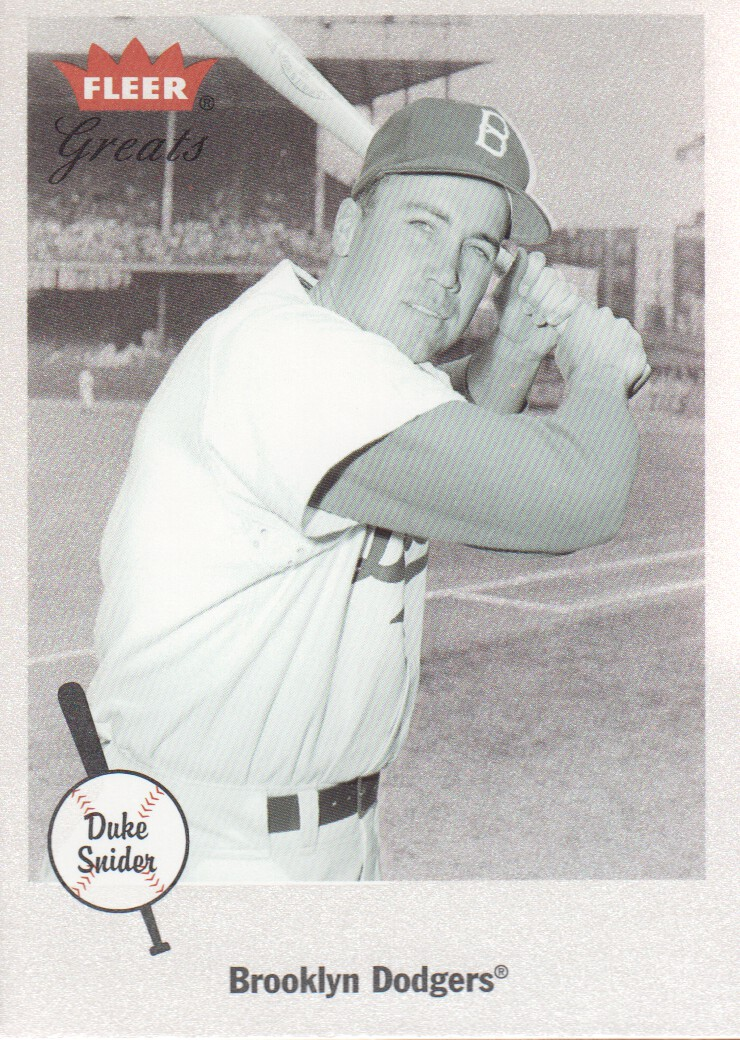 2002 Greats of the Game #83 Duke Snider