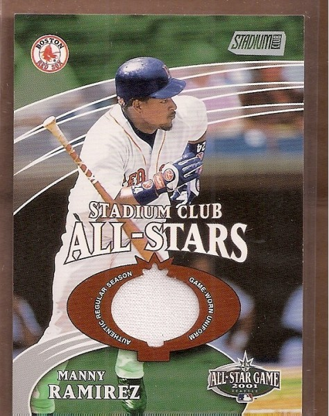 2002 Stadium Club All-Star Relics #SCASMR M.Ramirez Uni G5