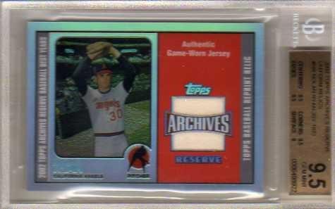 2002 Topps Archives Reserve Uniform Relics #NR Nolan Ryan 73 Jsy D