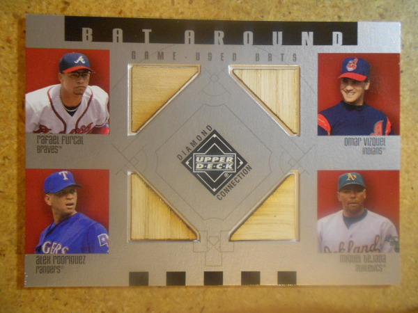 2002 Upper Deck Diamond Connection Bat Around Quads #FVRT Furcal/Vizq/A-Rod/Tejada