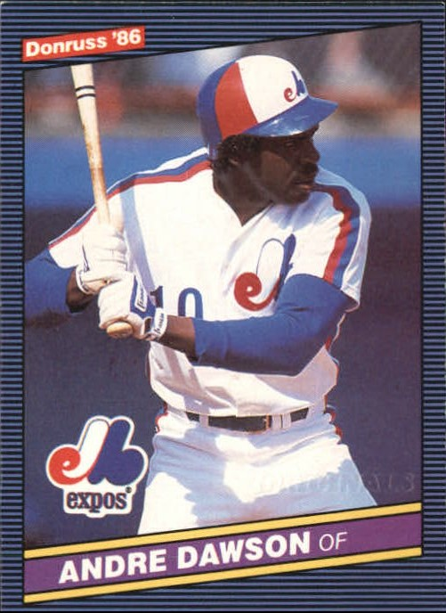 2002 Donruss Originals Embossed #31 Andre Dawson 1986/10