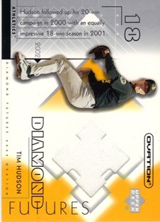 2002 Upper Deck Ovation Diamond Futures Jerseys #DFTH Tim Hudson