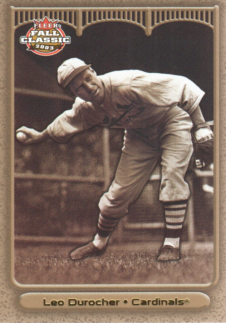 2003 Fleer Fall Classics Championship Gold #50A Leo Durocher Cards