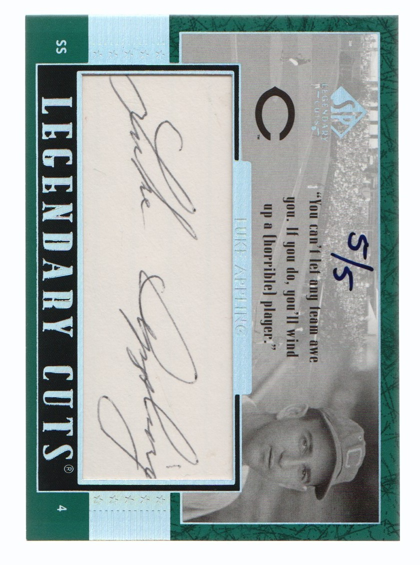 2003 SP Legendary Cuts Autographs Green #LU Luke Appling/5