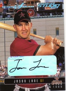 2003 Studio Private Signings #130 Jason Lane/100