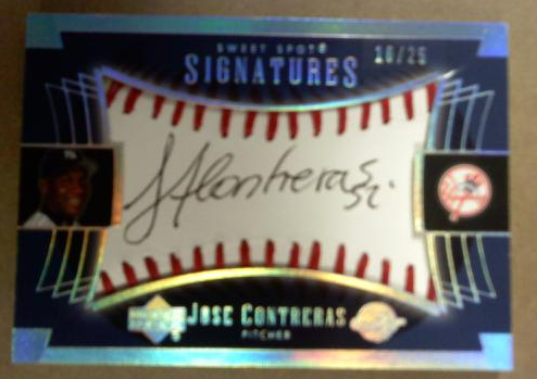 2003 Sweet Spot Signatures Black Ink Holo-Foil #JC Jose Contreras