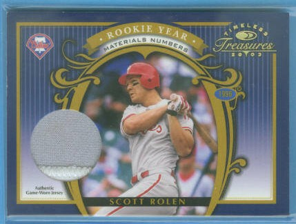 2003 Timeless Treasures Rookie Year Numbers #11 Scott Rolen/30