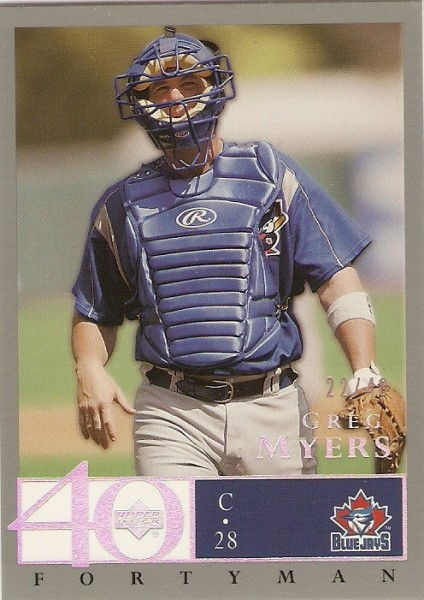 2003 Upper Deck 40-Man Rainbow #71 Greg Myers