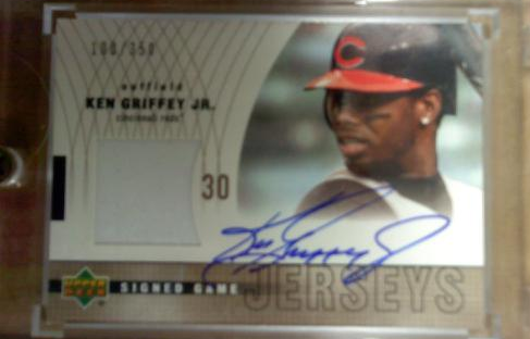 2003 Upper Deck Signed Game Jerseys #KG Ken Griffey Jr./350