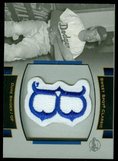 2003 Sweet Spot Classics Patch Cards #DS1 Duke Snider