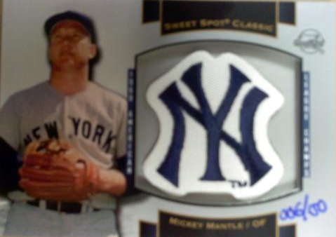 2003 Sweet Spot Classics Patch Cards #MM4 M.Mantle 60 WS/150