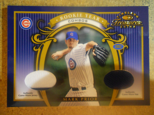 2003 Timeless Treasures Rookie Year Combos #6 Mark Prior Hat-Jsy/50