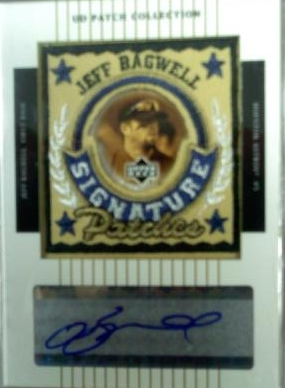 2003 UD Patch Collection Signature Patches #JB Jeff Bagwell