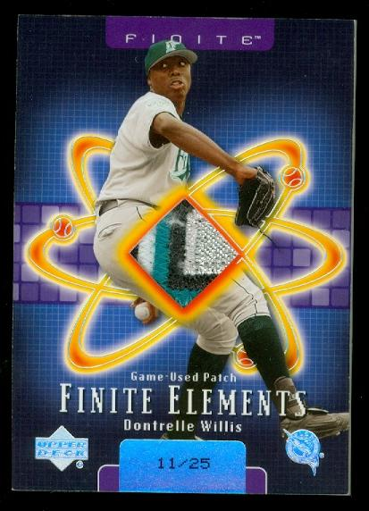 2003 Upper Deck Finite Elements Game Patch #DW Dontrelle Willis