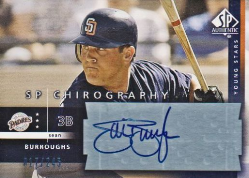 2003 SP Authentic Chirography Young Stars #SB Sean Burroughs/245