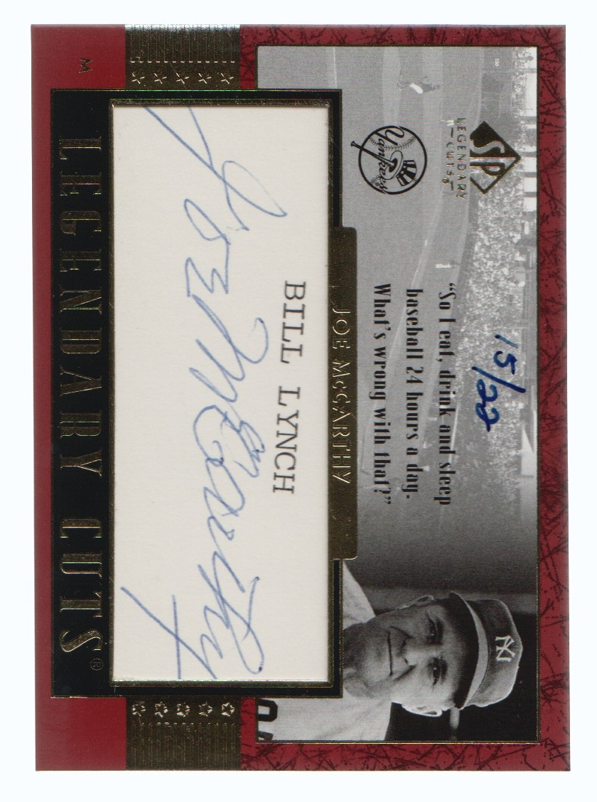 2003 SP Legendary Cuts Autographs #JO Joe McCarthy/22