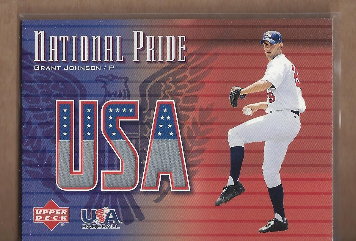 2003 Upper Deck National Pride Memorabilia #GJ Grant Johnson