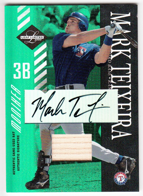 2003 Leaf Limited Moniker Bat #47 Mark Teixeira A/25