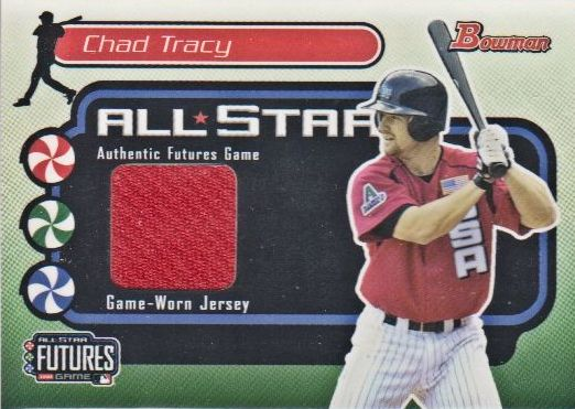 2004 Bowman Futures Game Gear Jersey Relics #CT Chad Tracy B