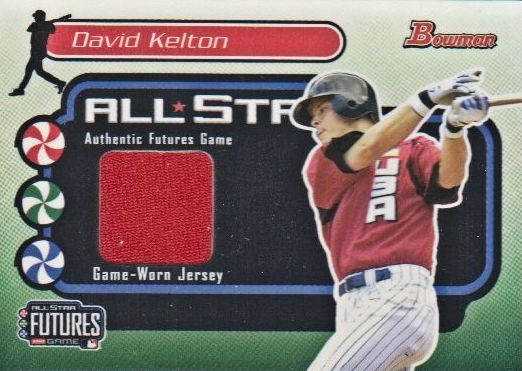 2004 Bowman Futures Game Gear Jersey Relics #DK David Kelton E
