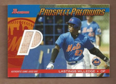 2004 Bowman Draft Prospect Premiums Relics #LM Lastings Milledge Bat A