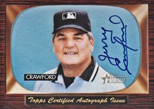 2004 Bowman Heritage Signs of Authority #JC Jerry Crawford