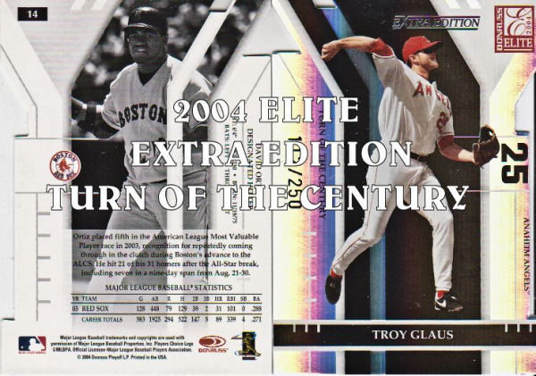 2004 Donruss Elite Extra Edition Turn of the Century #1 Troy Glaus