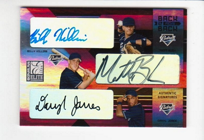 2004 Donruss Elite Extra Edition Back to Back Picks Signature #15 Billy Killian/Daryl Jones/Matt Bush/100