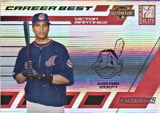2004 Donruss Elite Extra Edition Career Best All-Stars #4 Victor Martinez