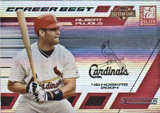 2004 Donruss Elite Extra Edition Career Best All-Stars #5 Albert Pujols