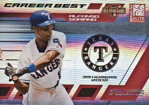 2004 Donruss Elite Extra Edition Career Best All-Stars #12 Alfonso Soriano