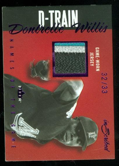 2004 Fleer InScribed Names of the Game Material Purple #DW Dontrelle Willis Patch